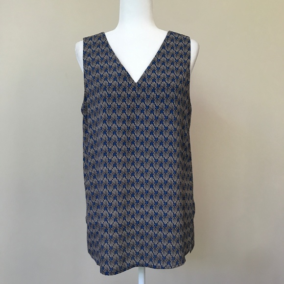 Nordstrom Tops - Pleione Blue Sleeveless Blouse Size M
